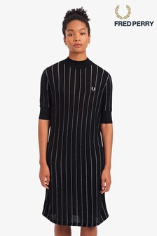 Fred Perry Pinstripe Knitted Dress
