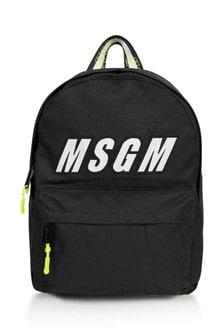Kids Black Logo Backpack