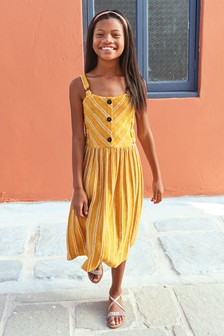 Textured Stripe Midi Dress (3-16yrs)