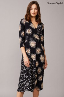 Phase Eight Blue Oketo Mixed Print Dress