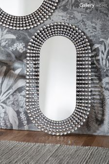 Sharrington Oval Faux Crystal Edge Mirror by Gallery Direct