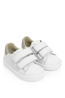 White Leather New Ace Velcro Trainers