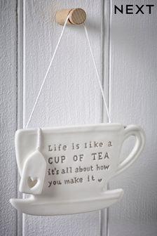 Ceramic Teacup Hanging Decoration
