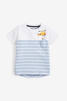 Short Sleeve Helicopter Pocket T-Shirt (3mths-7yrs)