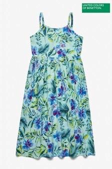 Benetton Green Floral Dress