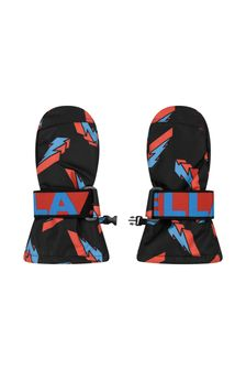 Boys Lightning Print Ski Gloves