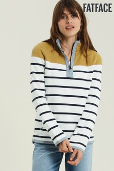 FatFace Natural Airlie Pop Yolk Stripe Sweater