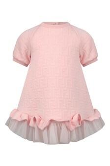 Baby Girls Pink FF Logo Dress