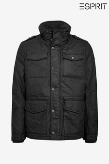 Esprit Black Coated Field Jacket