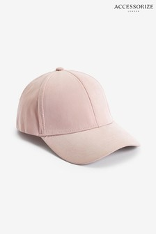 Accessorize Pink Soft Touch Baseball Cap