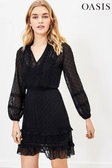 Oasis Dobby Lace Shirt Dress