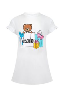 Moschino Kids Moschino Baby Girls Pink Cotton Dress
