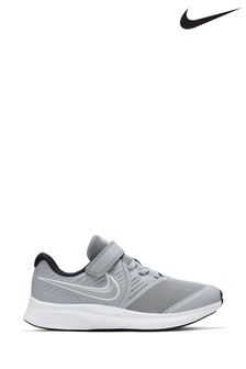 Nike Run Grey/White Star Velcro Runner Junior Trainers