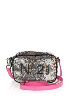 Girls Silver Sequin Bag