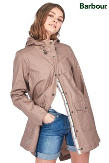 Barbour® Coastal Nude Lightweight Coated Linen Parka