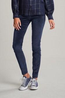 Super Soft Velvet Biker Skinny Jeans
