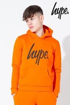 Hype. Orange Graffiti Spray Back Hoody