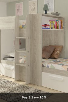 Barca Bunkbed With Storage Drawers And Wardrobe By Trasman