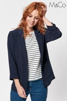 M&Co Blue Textured Blazer