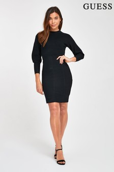 Guess Black Daisy Jumper Dress