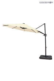Maple 3.0M SolarPowered Cantilever Parasol Cream By LG Outdoor