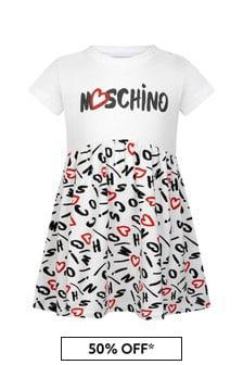 Moschino Kids Baby Girls Red Cotton Dress
