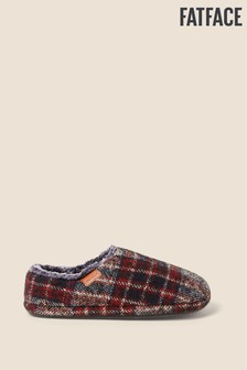 FatFace Red Maddox Closed Back Slippers