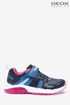 Geox Junior Girl's Spaziale Navy/Fuchsia Sneakers