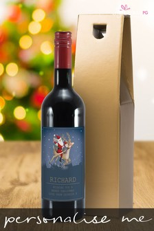 Personalised Santa Bottle Of Wine by Signature Gifts