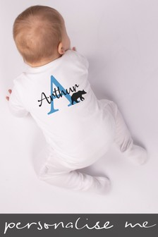Personalised Animal Alphabet Sleepsuit