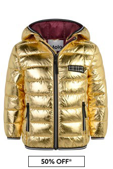 Girls Metallic Padded Jacket