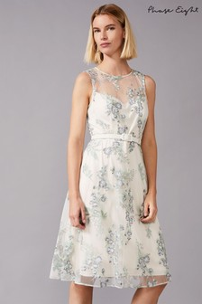 Phase Eight Multi Lia Embroidered Dress