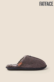 FatFace Blue Morgan Mini Check Mules