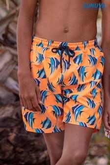 Sunuva Orange Angel Fish Swim Shorts