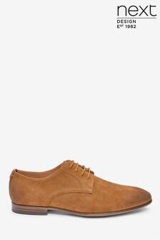 Microsuede Derby Shoes