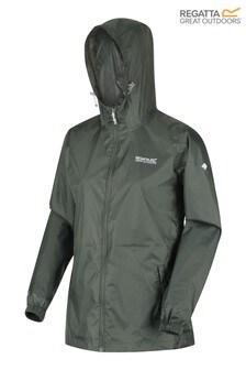 Regatta Green Womens Pack It III Waterproof Jacket