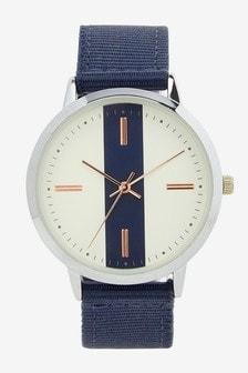 Canvas Strap Stripe Watch