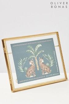 Oliver Bonas Gold Lace Edge 5x7 Photo Frame