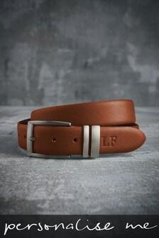Personalised Tan Leather Belt