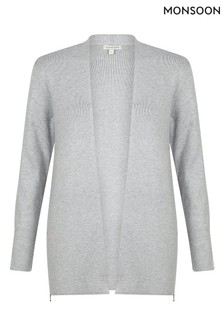Monsoon Grey Zip Side Cardigan