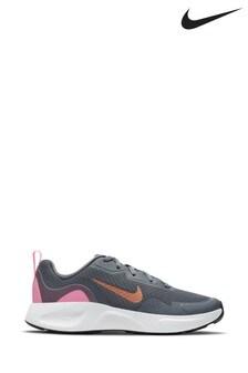 Nike Grey/Gold Runallday Trainers