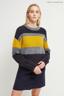 French Connection Blue Rufina Knits Stripe Jumper