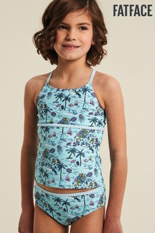 FatFace Mild Mint Resort Print Tankini Set