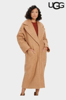 UGG Camel Hattie Long Oversized Teddy Coat