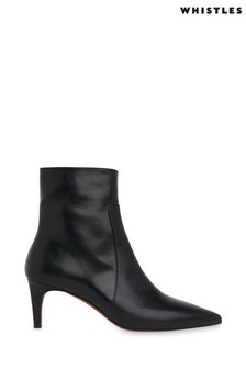 Whistles Black Celia Kitten Heel Boots