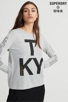 Superdry Brand Language Skater Long Sleeved Top