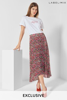 Next/Mix Printed Pleat Skirt