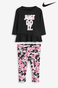 Nike Infant Floral Top And Legging Set