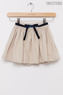 Trotters London Gold Hetty Party Skirt