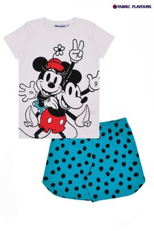 Fabric Flavours White Disney™ Mickey And Minnie Mouse™ Pyjama Set
